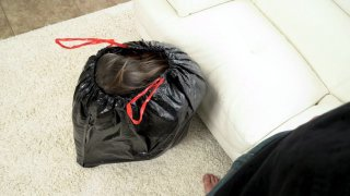 Image: Kristen Scott appeared from the bag and started sucking cock