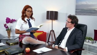 Jenna J Foxx seducing her boss_Robby Echo in the office image
