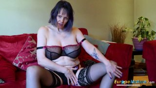 EuropeMaturE Lonely Lady Solo Masturbation Video image