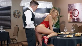 Kat Dior gets assfucked by waiter Jordi in the restaurant image