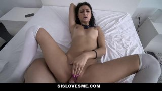 Sislovesme stepsister drops on her knees for_cum ~ dropping cum image