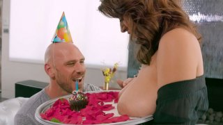 Ella Knox gets her big tits worshipped by Johnny Sins image