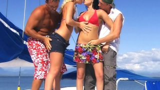 Image: Group sex with sexy Angelina Love and hot Renata Black