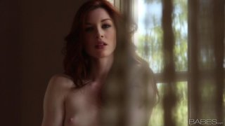 Image: Gorgeous redhead Stoya plays with her pussy