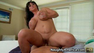 Fatty Indianna Jaymes rides strong cock image