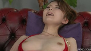 Two dildos pleases fluffy pussy of Japanese_slut Yui_Hatano image