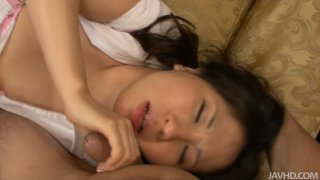 Threesome with nasty teen in Japanese style image