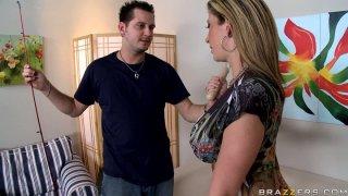 Image: Bootylitious MILF Sara Jay gives blowjob and handjob