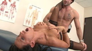 Filthy mature doctor Lezley Zen gets brutally fucked by her_patient image