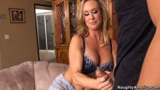Seductive rubbing and blowjob from hot milf Brandi Love image