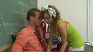 Curly haired teen Mae Meyers has crush on her teacher image