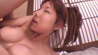 Dirty slut Serina Hayakawa wearing kimono gets fucked hard in a missionary position and doggystyle image