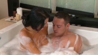 Kimmy Kay hot showering with horny guy image
