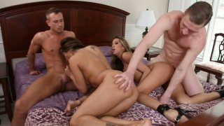 Image: Steamy groupsex with Francesca Le and Kayla Carrera