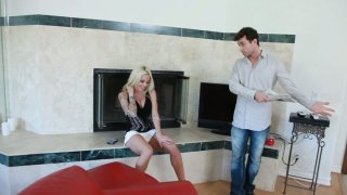 Severe blondie Helly Hellfire makes a_dude lick her pussy image