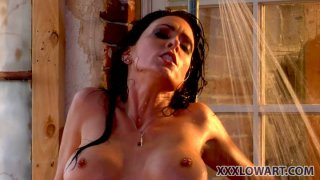Nasty sluts Jessica Jaymes and Janine Janine get_dirty in shower room image