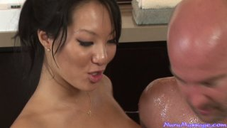 Handjob and erotic massage from Asa Akira and Kina Kai image