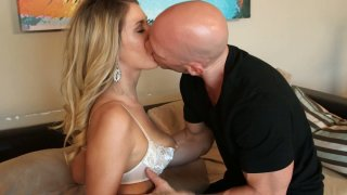 sex starved blonde seductress gives hot blowjob to her neighbor: Blonde princess alysha rylee gives_blowjob to her boyfriend image