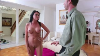 Image: Nudist Ashli Ames gets complains about swimming naked in a pool so she sucks the cock to fix the problem