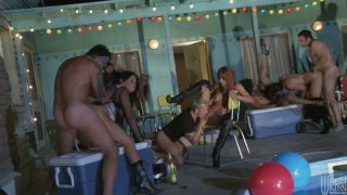 Jessica Drake, Kaylani Lei, Kirsten Price, Tory Lane, Alektra Blue, Briana Blair, Chanel Preston, Kayme Kai, Misty Stone enjoy a hot group sex image