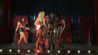 Dirty_bitches_Jessica_Drake,_Kaylani_Lei,_Alektra_Blue_and_Brandy_Aniston_perform_on_a_stage_and_later_fuck_each_other image