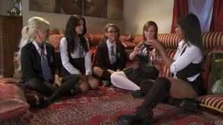 Image: College lesbie fest with Marie McCray, Kelly Surfer, Jayden Lee, Leilani Leeane and Vanessa Veracruz
