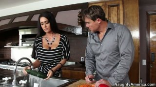 Jessica Jaymes gets fucked her pussy in the kitchen image