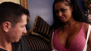 Brunette brickhouse Kerry Louise gets her_throat brutally fucked image