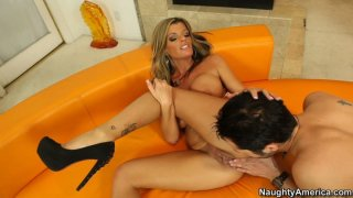Sexy milf Kristal Summers likes cunnilingus and young cocks in her pussy image