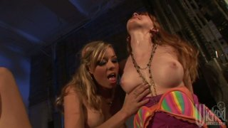 Lesbian games at the warehouse with Nicole Ray and Marie McCray image