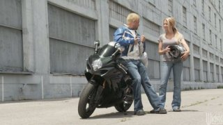Image: Legendary porn babes Alexis Texas and Briana Blair fucking biker boy