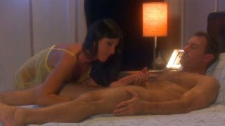 India Summer is giving a hot blowjob and gets her pussy fingered image