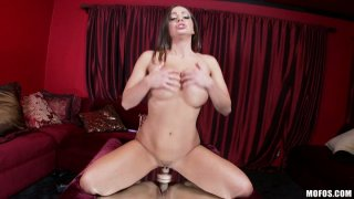 Playful bitch Abigail Mac plays with her toys stretching her fuck holes image