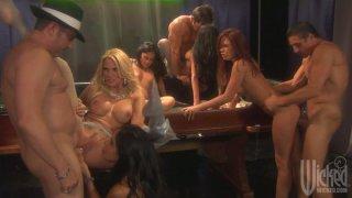 Pussy jackpot with Jessica Drake, Kaylani Lei, Kirsten Price, Alektra Blue and Mikayla Mendez image