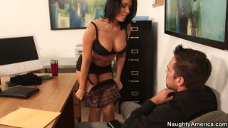 Image: Rachel Starr makes her boyfriend's business partner eat her delicious pussy