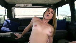 Hussy girl Taylor Slit rides cock in the car image