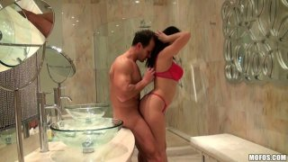 Horny Ava Dalush sucks a cock and experiences a hot cunnilingus in return image
