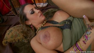 Busty slut Trina Michaels gets poked hard by Ralph Long in a missionary position image