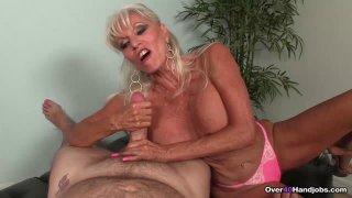 Image: Granny Blowjob CHALLENGE  Sally Tortures His Big
