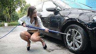 Erotic car washing video image