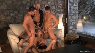 Image: Threesome gangbang for pure Kristyna Kristal. Part 2