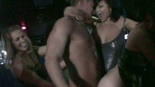Slutty Ashlyn Rae and her girlfriends get wild in the night club image