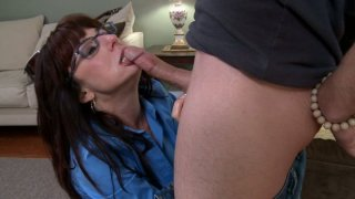 Image: Nasty aunty_Karen Kougar giving blowjob_and getting lube job