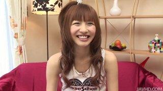 Image: Slutty teen Aisaki Kotone is hesitant to flash her flat tits