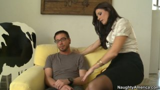Nice blowjob and handjob performed by lustful India Summer image