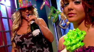 Two drunk girls_Natasha_Nice and Tyler Faith flirt with each other image