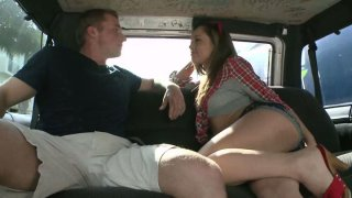 Image: Horny slut Kristina Rose seduces a guy and fucks him in a truck
