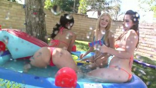 Fondling at the pool with Ally Ann, Alexis Breeze and Charlotte Vale image