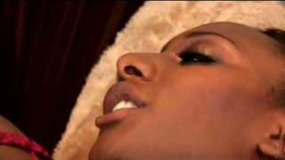 Black and gorgeous woman Gen Tilly gets her shaved cunt banged image