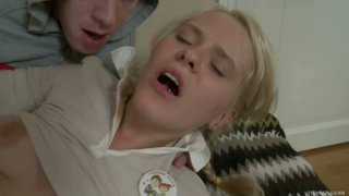 Freaky teen blonde Fantine loves to get her anus stretched by Matthew image